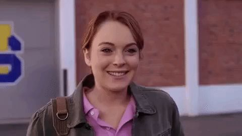 New trendy GIF/ Giphy. hi wave mean girls flirting lindsay lohan waving mean girls movie cady heron. Let like/ repin/ follow @cutephonecases