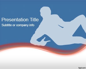 Free Man PowerPoint Template is a free background for PowerPoint presentations with a man lying in the slide design