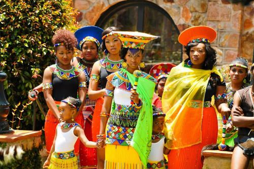 A Zulu Wedding Look at all of the beauty going on right here!!!