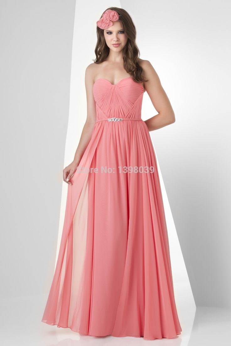 10 best beautiful bridesmaid dresses images on pinterest buy pink chiffon bridesmaid dresses 2014 pleated sweetheart floor length dress gowns from reliable bridesmaid dresses ombrellifo Gallery