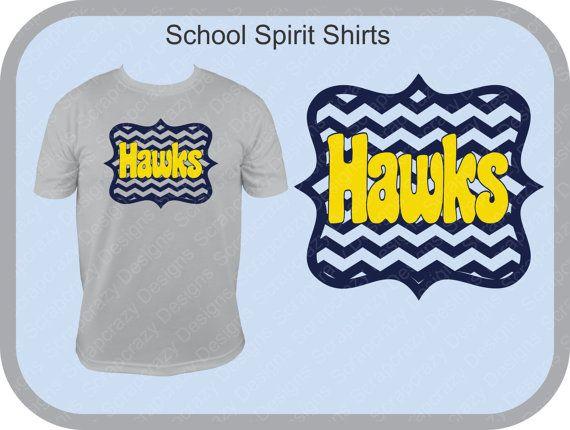 """Mustangs"" School Spirit Shirts by ScrapCrazyDesigns on Etsy, $19.00"