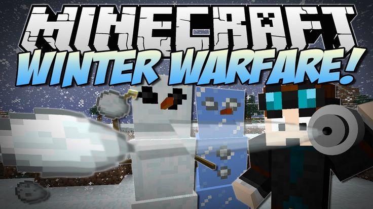 Minecraft WINTER WARFARE! (Snowball Bazookas, Abominable