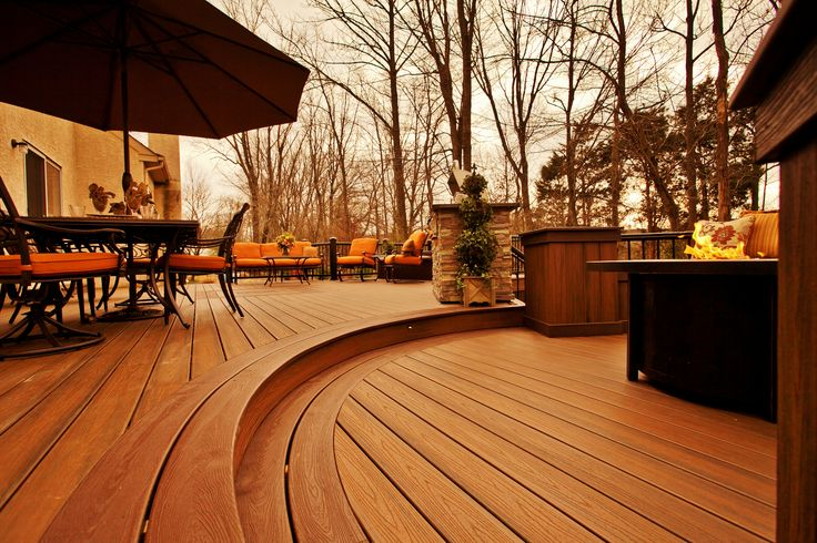 Outdoor Living Deck Hot Tub Fire Pit And Grill Area
