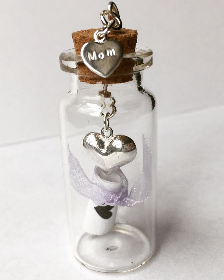 Sweet little message in a bottle pendant ❤️ includes 2 customizable Sterling silver charms $20 at Alli's Originals