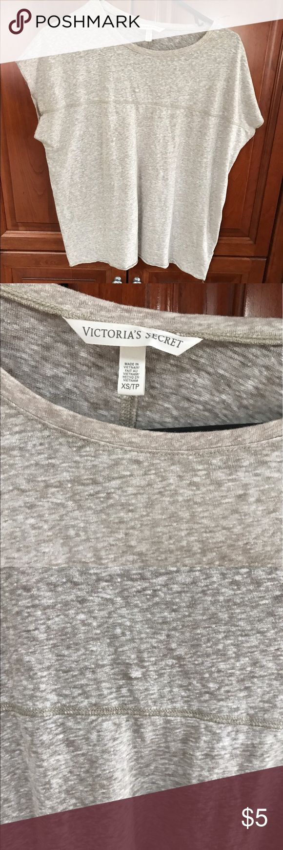 Victoria's Secret Sleeveless Beige Tee. SZ XS Victoria's Secret Sleeveless Beige Tee Size XS Comfy and stylish . Excellent Condition and Quality! Victoria's Secret Tops