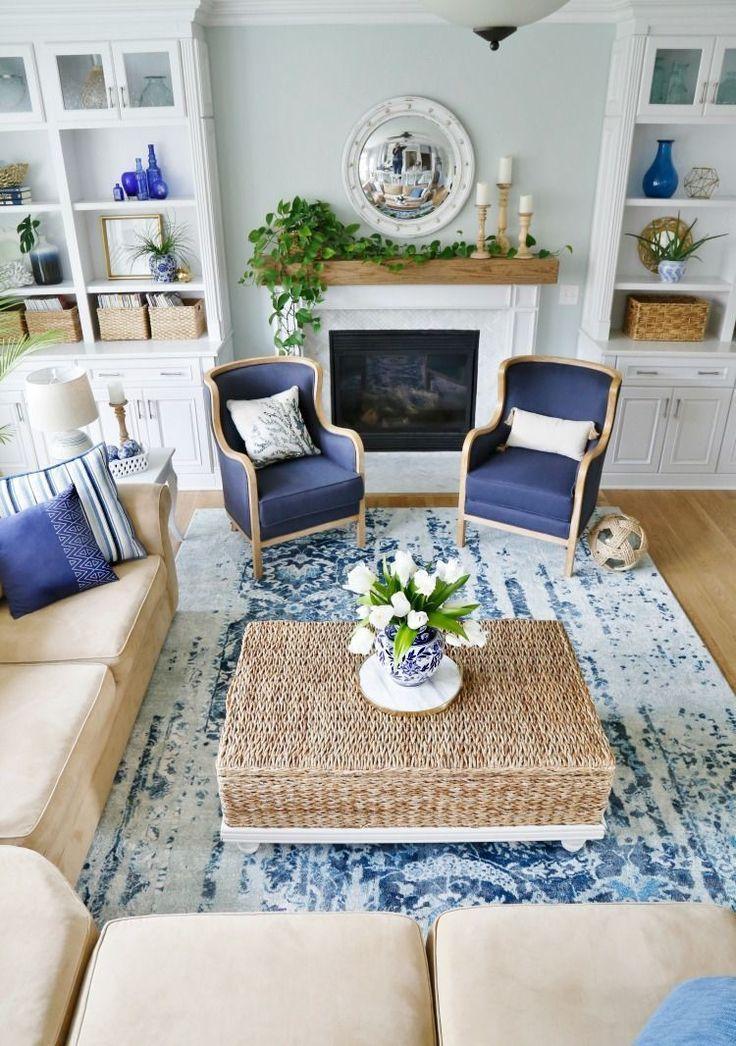 45 Gorgeous Coastal Living Room Decorating Ideas Coastal