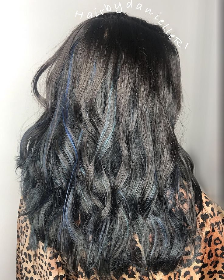 25 trendiga peekaboo highlights ider p pinterest hrfrger dark brown hair with blue peekaboo highlights curled into waves pmusecretfo Choice Image