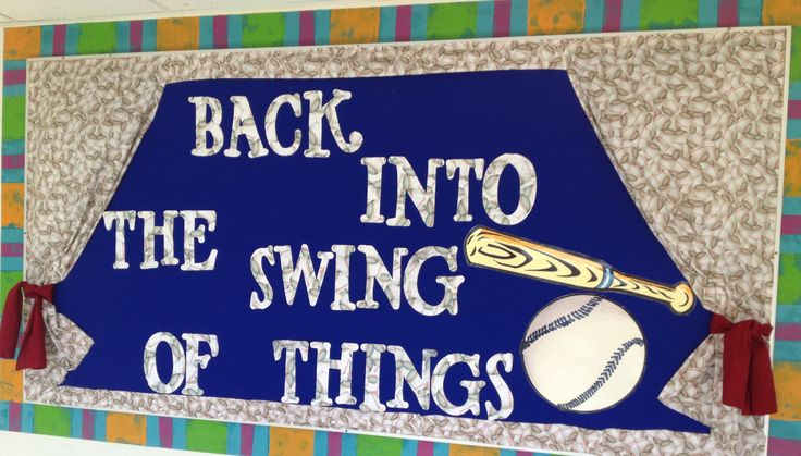 Baseball Theme Board-Back into the Swing of Things