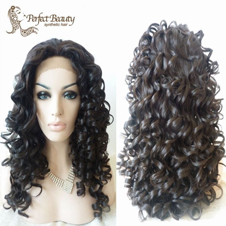 (Buy here: http://appdeal.ru/1bvd ) Black Curly Wig Soft Synthetic Lace Front Wig Big Curly Good Quality Top Cosplay for just US $70.00