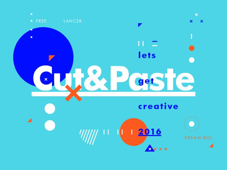 Cut&Paste. Let's get creative 2016.  Creative compositions and self promotion for Studio–JQ expressing the values, work methods and everyday subjects that arise in a usual day in the studio.   ...