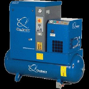 5 HP, Quincy Rotary Screw Air Compressor with 60 Gallon Tank & Dryer 208/230/460/3/60, QGS 5 HPD-3
