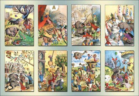 Niech żyje słoń- ilustracje Zbigniew Jujka