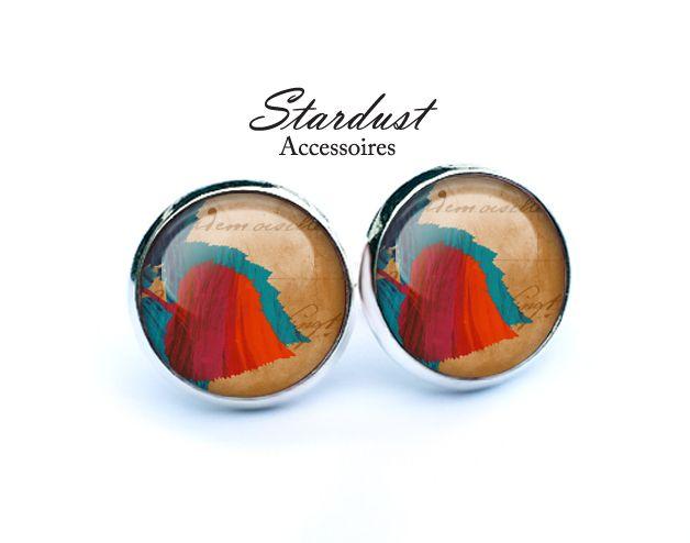 Ohrstecker silber ✿ Herbstblätter V ✿ von Stardust Accessoires auf DaWanda.com