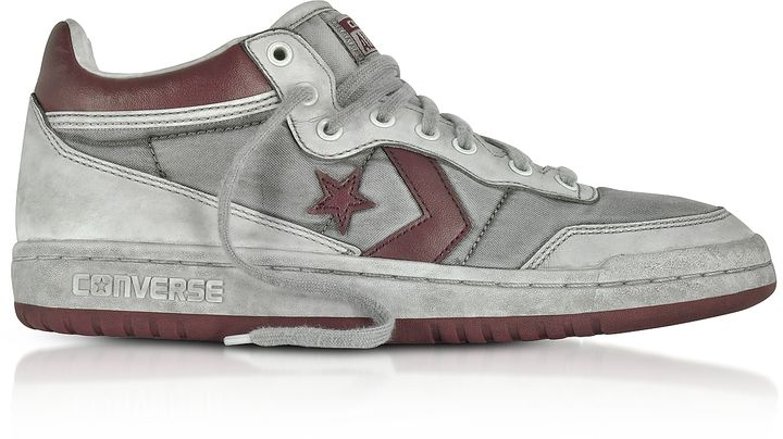 size 40 4ba1a f51ff Converse Limited Edition Fast Break 83 Mid LTD Burgundy Leather Sneakers