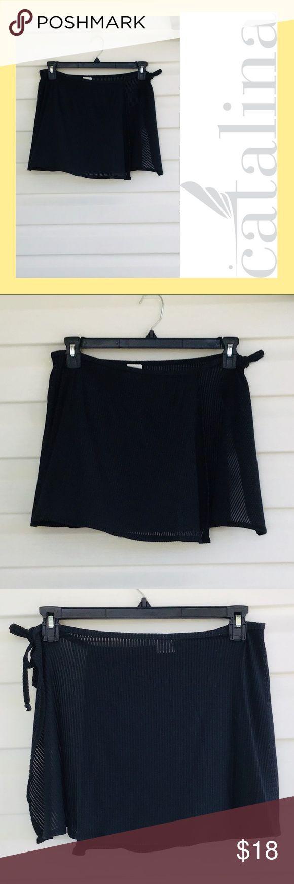 Catalina sarong black L Catalina sarong Size large  Black ribbed Tie side adjust…
