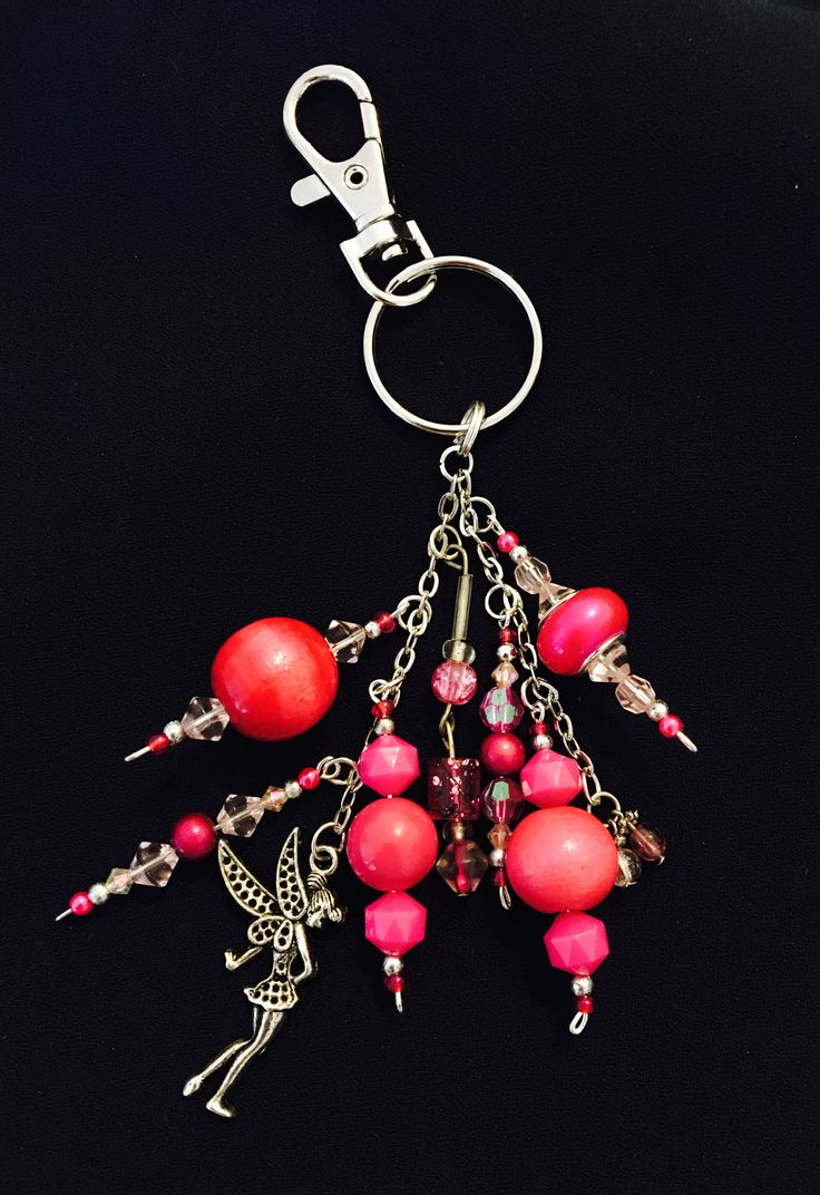 Pink fairy keychain made by me