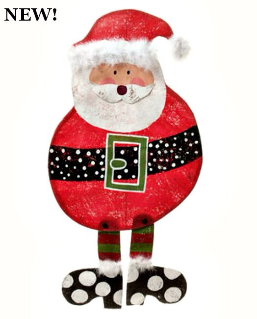 Round Santa Now Available Door Hangers From