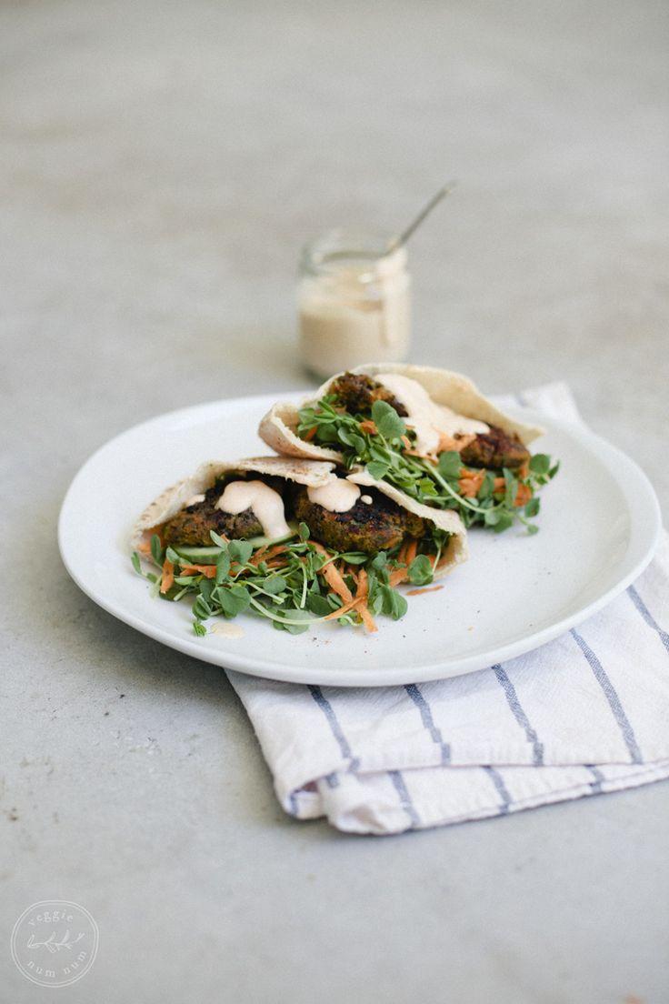 Blue apron falafel - Roasted Carrot Falafel Pita Pockets W Creamy Harissa Sauce