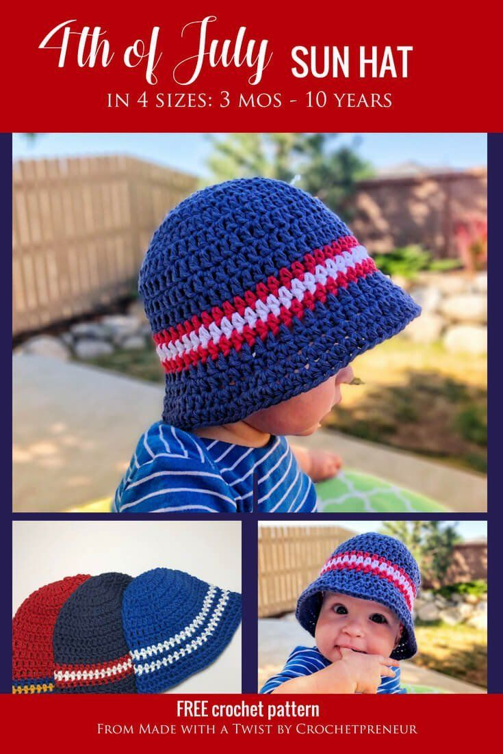 3138a8e4f Super Simple Kid's Sun Hat: Free Crochet Pattern | Prayers | Crochet ...