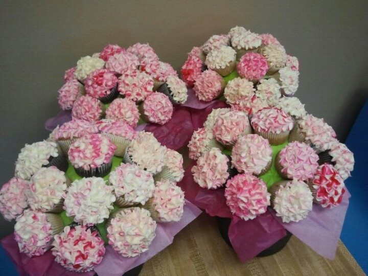 34 best cupcake flower pots images on Pinterest | Cupcake flower ...