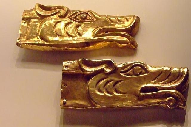 Wolf's-Head Appliques Scythian 100 BCE - 100 CE Gold
