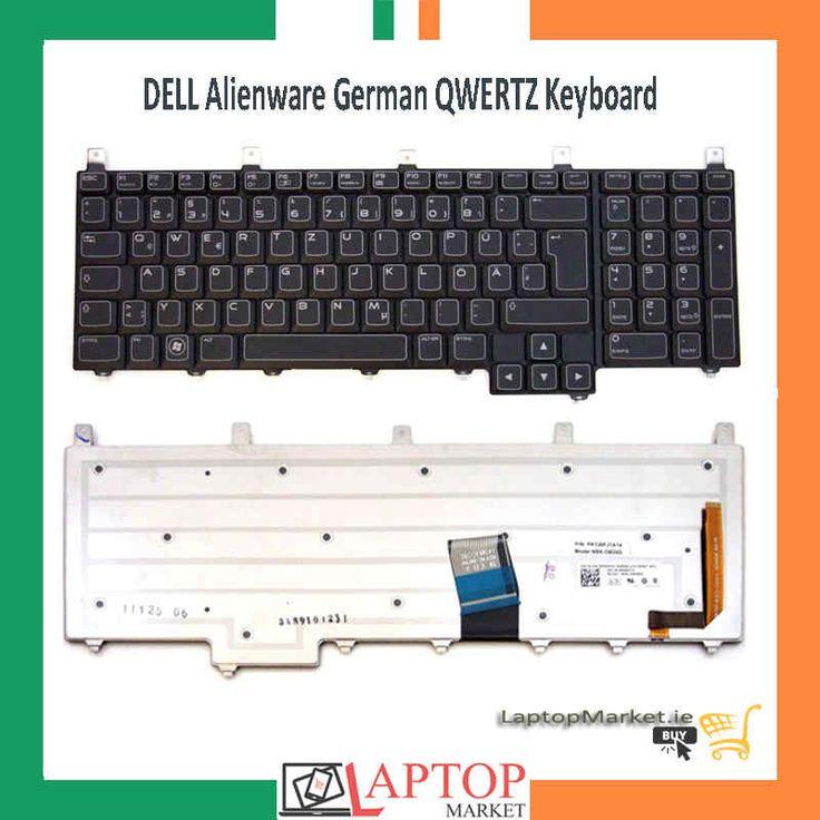 Original Dell Alienware M17X R3 German Layout QWERTZ Backlit Keyboard