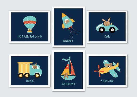 Vervoer kwekerij kunst kunst aan de muur teddybeer wordt