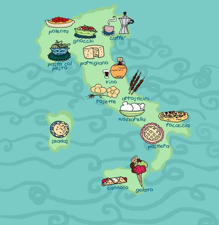 Italian food map