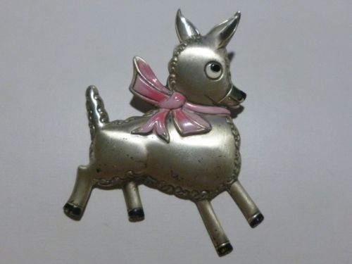 RARE-CORO-STERLING-SILVER-HANDMADE-GOAT-BROOCH-PIN-ESTATE-ANTIQUE-RARE-COLLECTOR