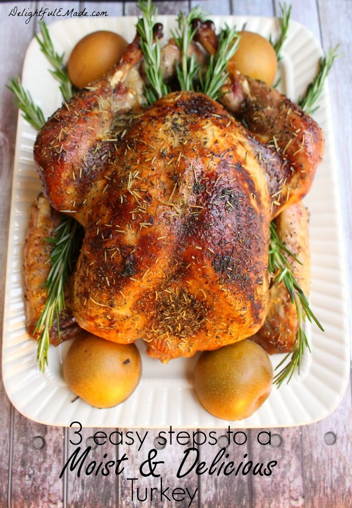 Are you hosting Thanksgiving, Friendsgiving or Christmas this year?  Set your holiday table with a gorgeous, flavorful turkey in just three easy steps. I'll show you how to make a brine for your turkey, which is the secret to getting a moist, juicy and flavorful bird every time!
