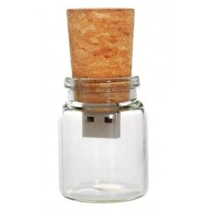 Korek słoik butelka pendrive pamięć USB Flash  8GB
