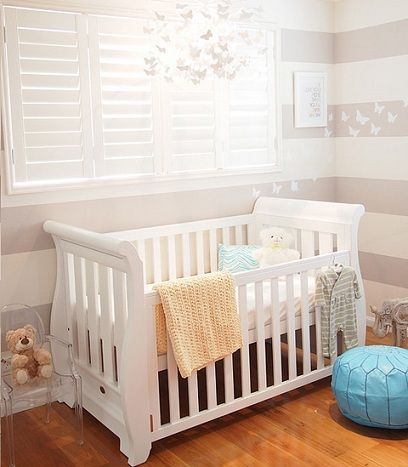 Decorar habitaci n beb moderna rayas ni os habitaci n - Decoracion habitacion moderna ...
