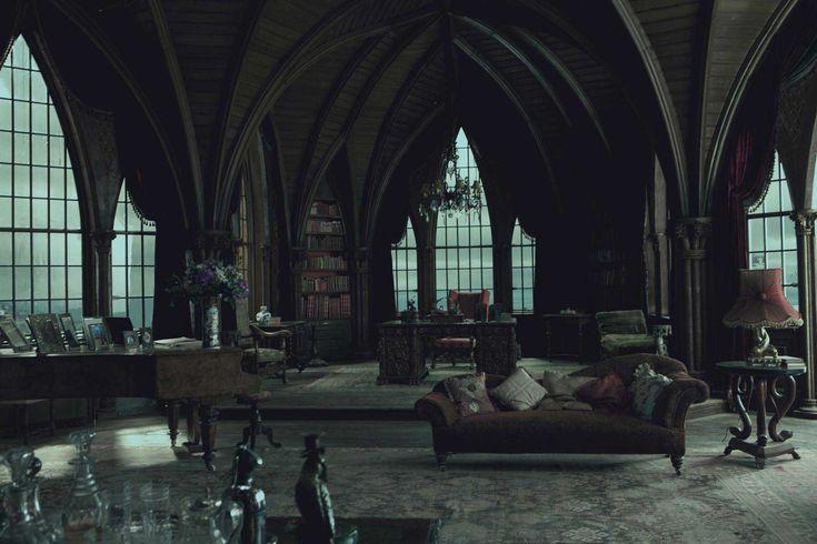 Interior , Gothic Interior Design for Dark but Attractive Home Decor Ideas : Arch Ceiling For Great Gothic Interior Design