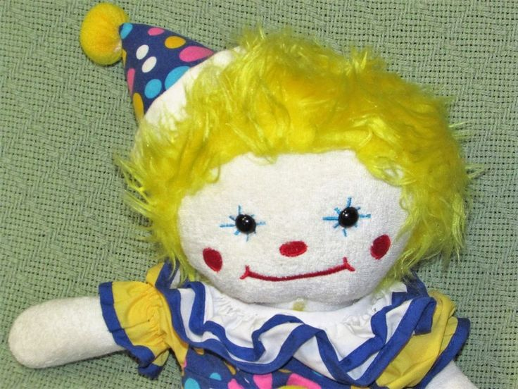 "Ringling Brothers Circus CLOWN Plush 15"" Stuffed Doll Greatest Show On Earth Toy #RinglingBrothers"