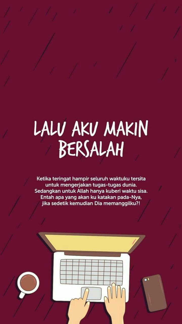 Hujan Dengan Gambar Islamic Quotes Kata Kata Motivasi Bijak