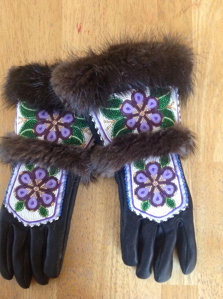 Beautiful beaded gloves