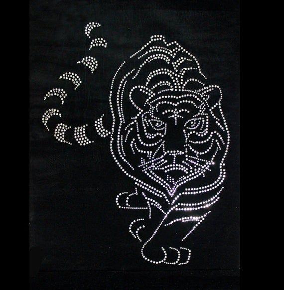 Iron-On Rhinestone Design Zodiac Sign Virgo Horoscope DIY Transfer Motif