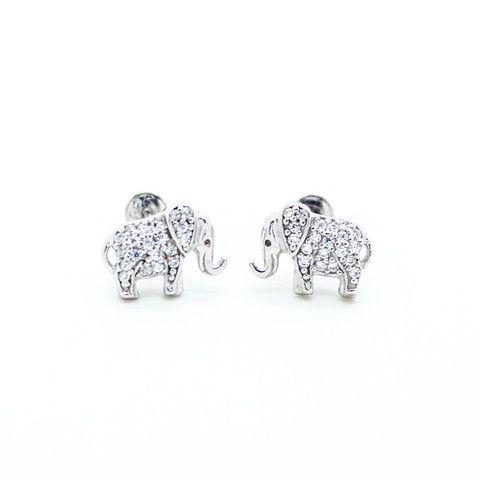 Elephant sterling silver earrings – Imsmistyle.