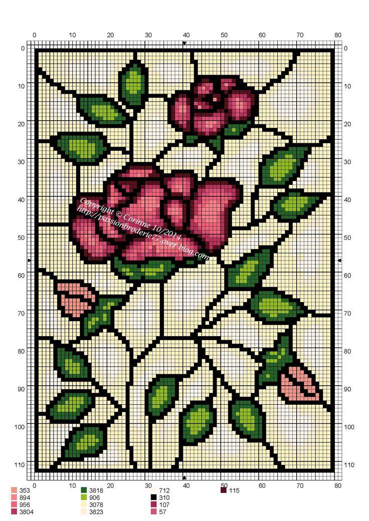 Vitrail roses