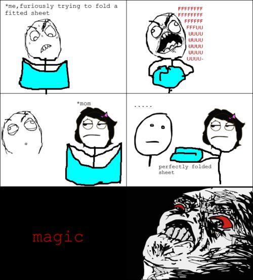 Meme Comics- Mom knows magic