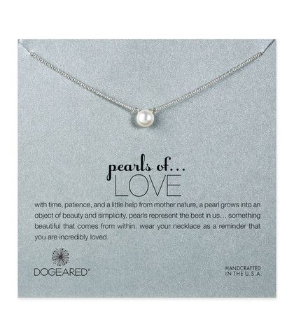 Dogeared, Pearls of Love White Pearl Necklace, Sterling Silver – Blue Daisy