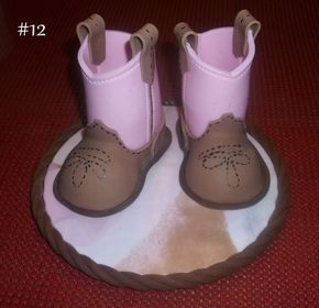 Fondant Baby Cowboy Boots Tutorial - by KosmicCustomCakes @ CakesDecor.com - cake decorating website