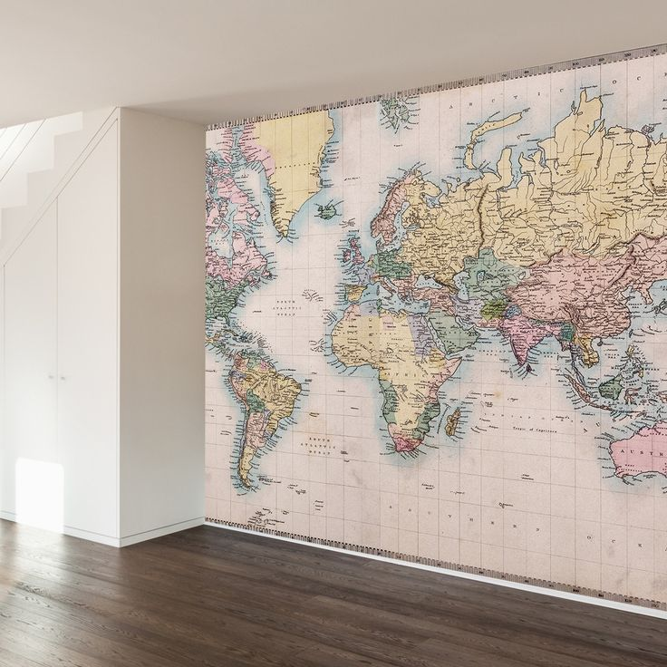 25 best ideas about map wall decor on pinterest travel for Antique world map wall mural