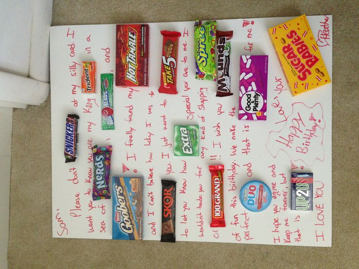 Candy card made for boyfriends birthday! Personalized meaningful gift