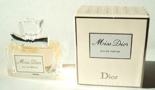 Miss Dior 0.17 oz / 5 ml Eau De Parfum Miniature by Miss Dior Eau De Parfum Mini. $11.39. Miss Dior 0.17 oz / 5 ml Eau De Parfum Mini. Miss Dior Dior Miss Dior 0.17 oz / 5 ml Eau De Parfum Mini Elegant, exuberant, luscious-the Dior spirit in a modern couture fragrance. A blend of classic chic and sophistication, with a touch of irreverence, this scent has a personality all its own. Notes: mandarin, tangerine, strawberry leaves, jasmine, violet, caramel popcorn, strawberr...