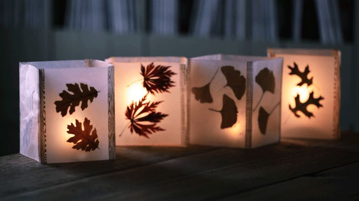 This impressiveDIY project is made from supplies you probably already own. Editor's Tip:Use battery-operated votives inside the lanterns to avoid burning the wax paper.