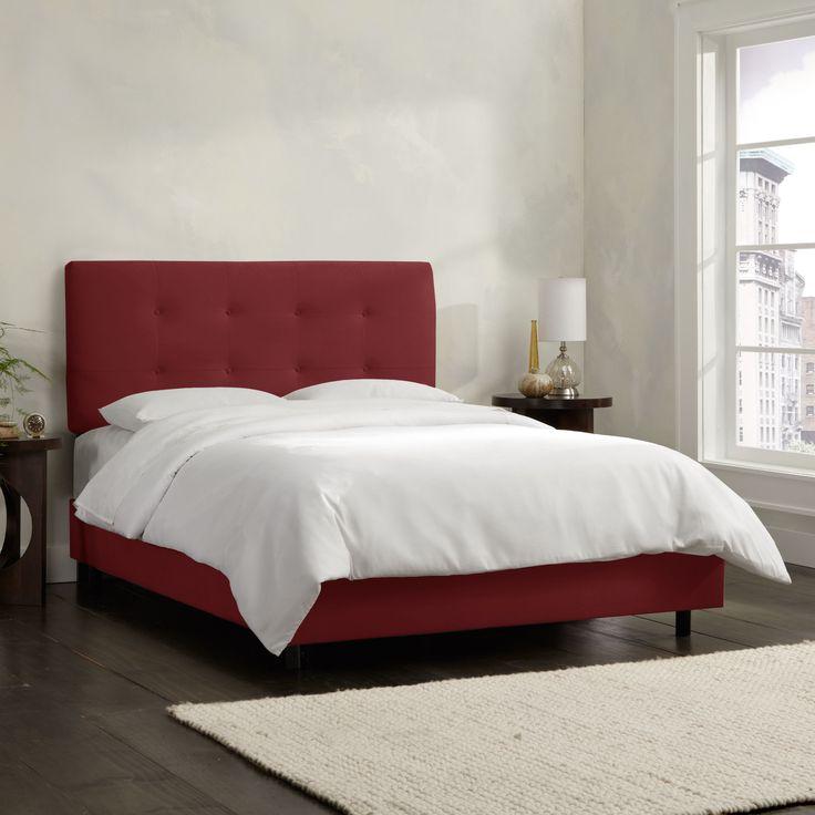 Skyline Furniture Berry Velvet Tufted Bed