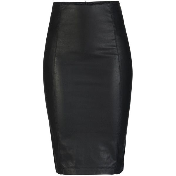 ONLY Pu Pencil Skirt found on Polyvore
