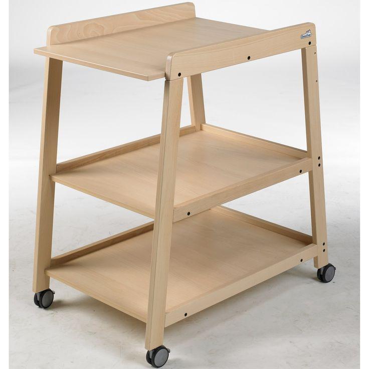 Table à langer en bois Wilma naturel (hauteur 87,5 cm) : Geuther - Table à langer classique - Berceau Magique