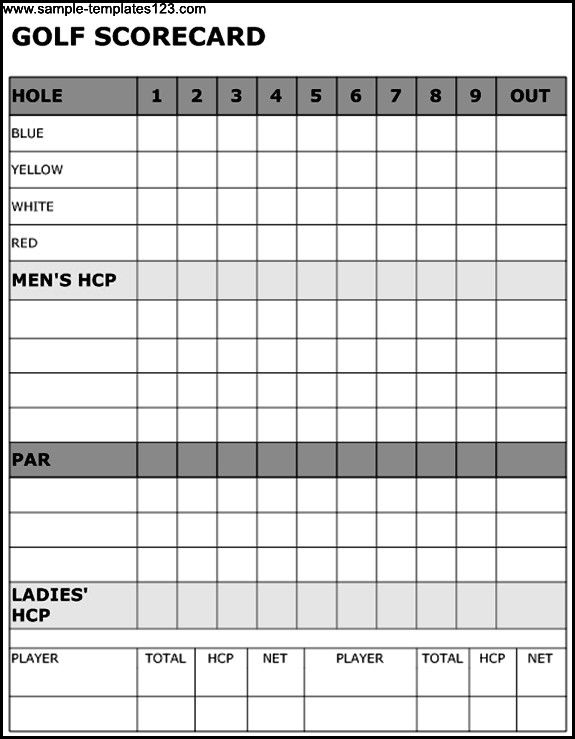 Golf Scorecard Template Check More At Https Nationalgriefawarenessday Com 22133 Golf Scorecard Template